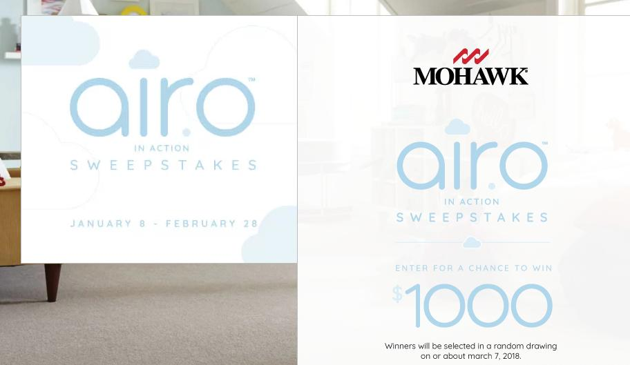 Mohawk Flooring AiroinAction Sweepstakes – Stand Chance to Win $1000 Prize