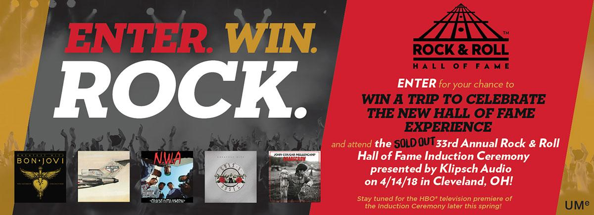 UMe - Rock & Roll Hall of Fame Flyaway Sweepstakes | Enter and Chance to Win Trip
