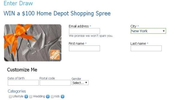 The Royal Draw Giveaway – Stand Chance to Win a $100 Home Depot Shopping Spree