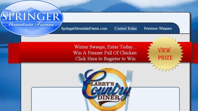 Free Freezer Full Of Springer Mountain Farms Chicken Sweepstakes – Stand Chance to Win a Bunker Style Freezer, 100 lbs of Springer Mountain Farms Fresh Frozen Chicken