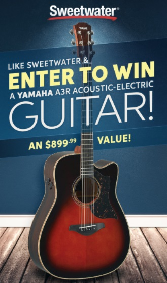 Sweetwater Sound Yamaha Giveaway – Chance To Win A3R Acoustic Electric Guitar