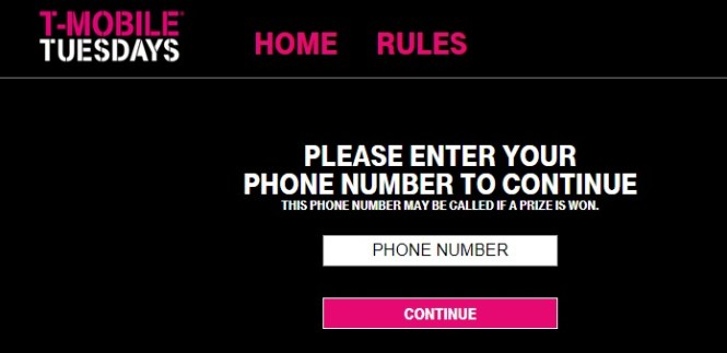 T-Mobile Tuesdays Sweepstakes – Chance To Win A Trip For Two