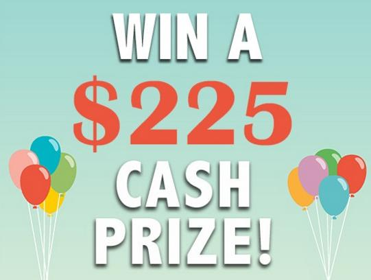 The Win a $225 Cash Prize Sweepstakes – Stand Chance to Win $225 Cash