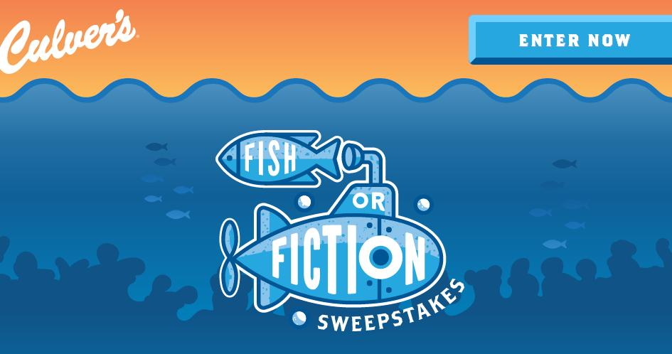Culver's Fish or Fiction Sweepstakes – Stand Chance to Win a $500.00 Culver's Gift Card