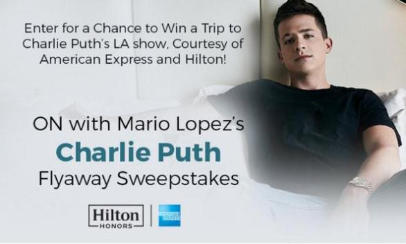 iHeart Radio Charlie Puth Flyaway Sweepstakes – Stand Chance to Win a Trip to Charlie Puth's LA Show, Courtesy of American Express and Hilton