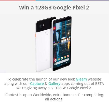 Gleam's Google Pixel 2 Giveaway – Stand Chance to Win a 128GB Google Pixel 2