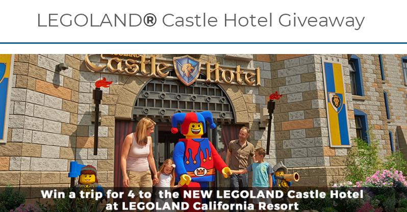 LEGOLAND Castle Hotel Giveaway Sweepstakes – Stand Chance to Win 3 Night Stay at LEGOLAND's New Castle Hotel, Tickets, Gift Card, Airfare