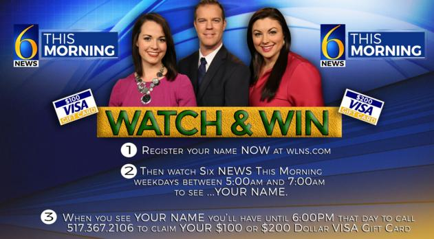 WLNS Watch and Win Visa Gift Card Contest – Stand Chance to Win a $100 or $200 VISA Gift Card