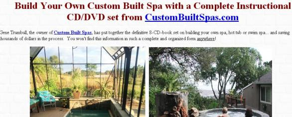 Natural Handyman Learn To Build Your Own Spa Sweepstakes – Stand Chance to Win fine Instructional Package in CD / DVD Sets