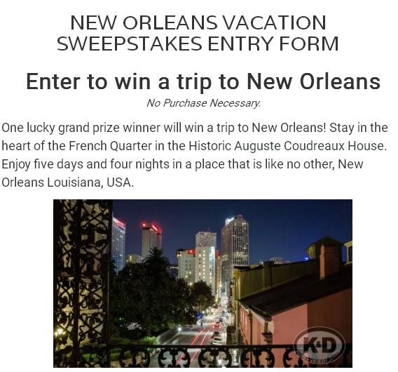 Kudzu Zombies' New Orleans Vacation Sweepstakes – Stand Chance to Win Trip to the French Quarter, New Orleans, Louisiana