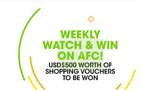 AFC Weekly Watch and Win Contest – Chance to Win Shopping Voucher