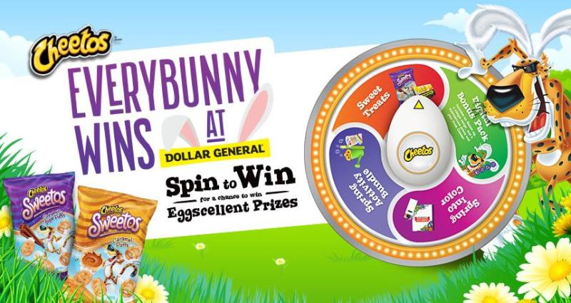 The Cheetos EveryBunny Wins Game Sweepstakes – Stand Chance to Win Bucket of Sidewalk Chalk, Bubble Wand, Watering can Flower Growing Kit and Sweet Treat Pack
