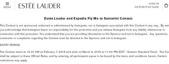Estee Lauder and Expedia Fly Me to Santorini Contest– Stand Chance to Win A Trip Prize for Two