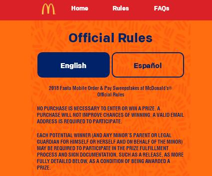 Fanta Mobile Order & Pay Sweepstakes at McDonald's– Stand Chance to Win VIP Concert Experience Package