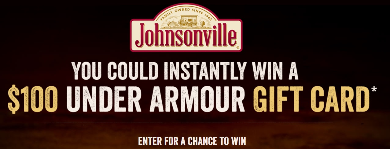 The Johnsonville Flame Grilled Chicken Instant Win Game – Stand Chance to Win A $100 Under Armour Digital Gift Certificate