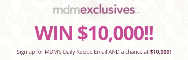 MDMExclusives My Daily Moment 1H18 Sweepstakes - Enter To Win $10,000 USD For One
