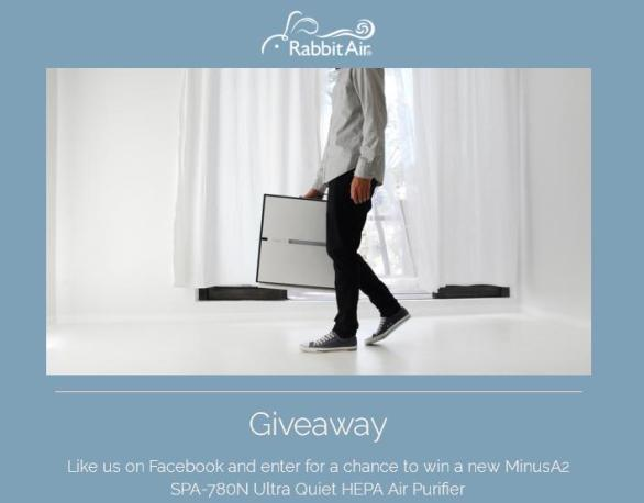 Rabbit Air MinusA2 Air Purifier Giveaway – Stand Chance to Win a Rabbit Air's New MinusA2 SPA-780N Ultra Quiet HEPA Air Purifier