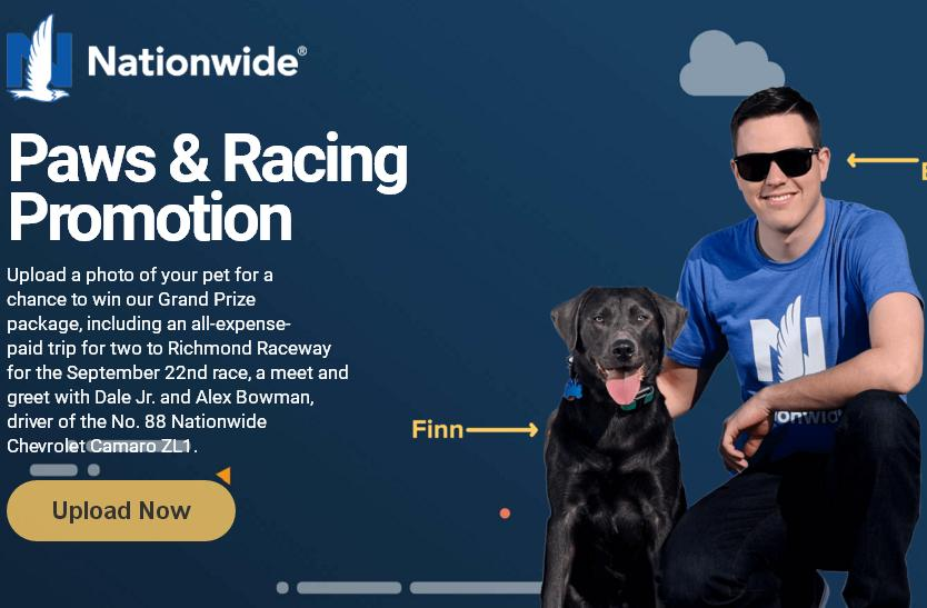 Nationwide Mutual Insurance Paws & Racing Sweepstakes – Stand Chance to Win VIP Trip to the NASCAR Race, $200 VISA Gift Card , Race Hot Passes and More Prizes