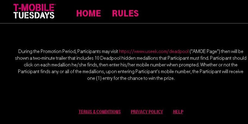 The T-Mobile Tuesdays Week #100 Sweepstakes - Chance To Win An Atom Tickets Account Credit