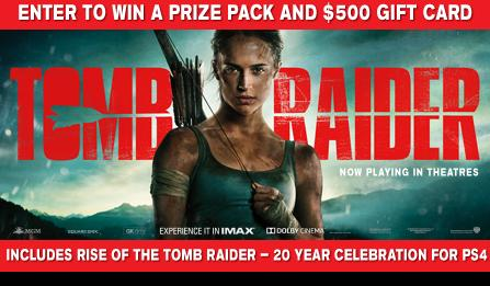EB Games Tomb Raider Limited Edition Contest - Chance To Win $500 Eb Games Gift Card   Rise of the Tomb Raider Video Game For PS4