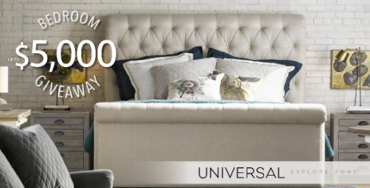 Universal Bedroom Giveaway - Enter To Have a Chance To Win $5,000 MSRP of Universal Bedroom Furniture