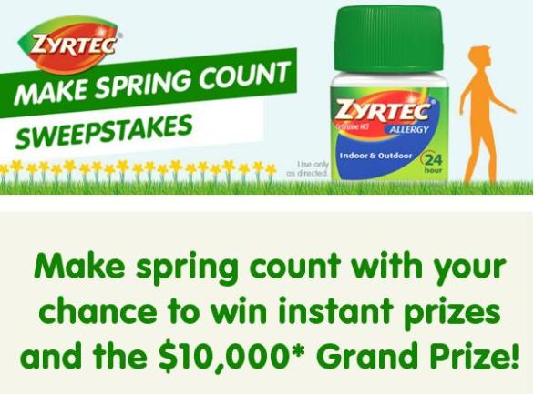 Zyrtec Make Spring Count Sweepstakes – Stand Chance to Win A $10,000 Visa Prepaid Card