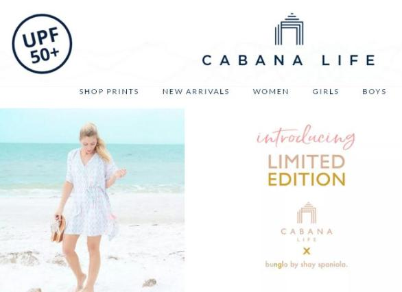Cabana Life Bunglo Beach Sweepstakes – Stand Chance to Win a $250 Cabana Life Gift Card & $250 bunglo x shay Spaniola Gift Card