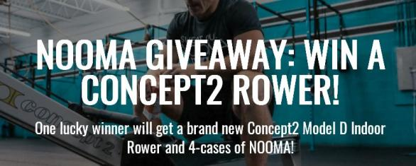 Nooma Rower Giveaway - Enter To Stand A Chance To Win A Concept 2 Rower