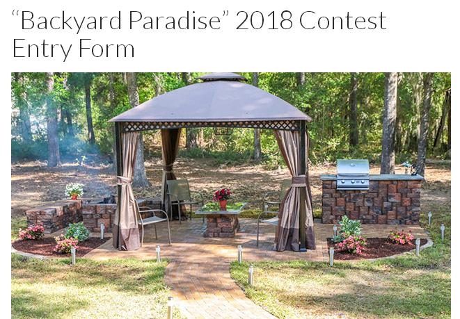 Today's Homeowner Backyard Paradise Contest-Enter To Win Grand Prize of $10,000