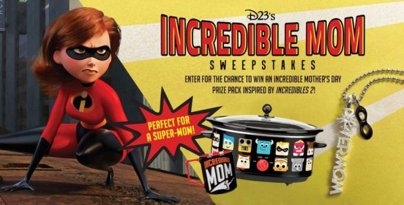 D23 Incredible Mom Sweepstakes-Chance To Win $200 Gift Card, Alex Woo Powermom Charm and Necklace