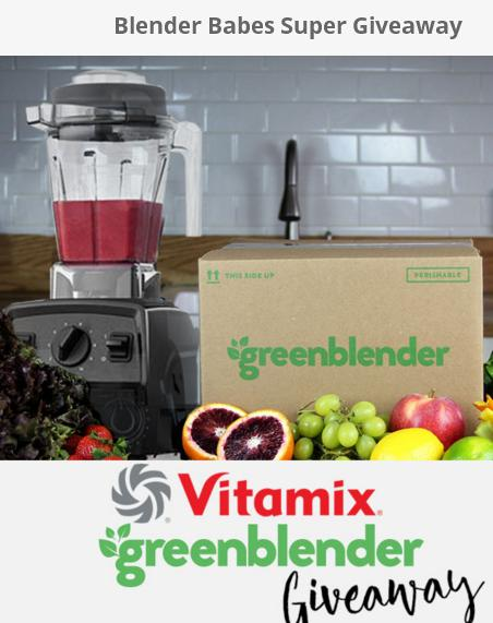 The Blender Babes Super Giveaway – Stand Chance to Win Vitamix Explorian E310 Blender, Green Blender Box