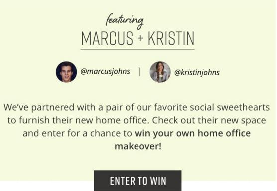 Marcus & Kristin Home Office Sweepstakes – Stand Chance to Win One Home Office Room Setting