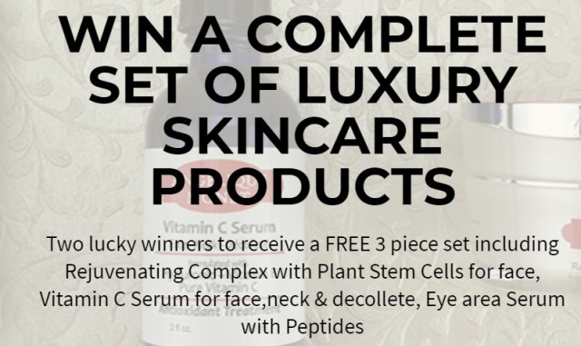 Angelique Monet Contest-Enter To Win Set Of Luxury Skincare Products