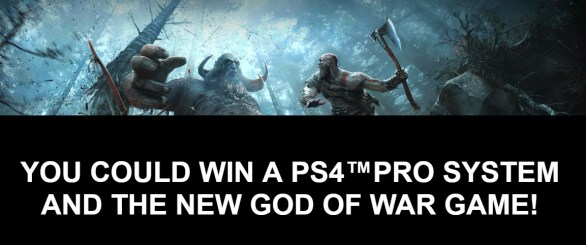 2018 The Rockstar God of War Sweepstakes- Enter To Win A PS4 Pro System and God of War Video Game