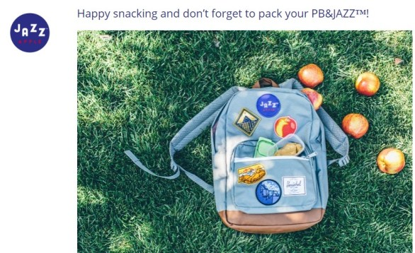 Pb&Jazz Snacking Sweepstakes- Enter To Win Herschel Pop Quiz Backpacks With Custom Patches, A Shipment of JAZZ Apples