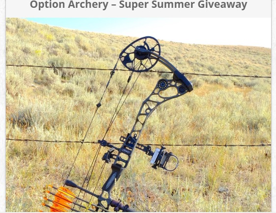Option Archery Super Summer Giveaway-Enter To Win Grand Prize Package, Quivalizer, High-End Fall-Away Arrow Rest, Bow Package Setup and Tune