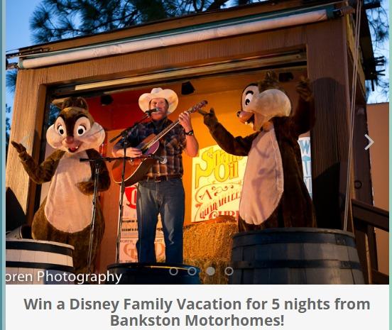 Bankston Motorhomes Giveaway- Chance To Win Disney Family Vacation for 5 nights from Bankston Motorhomes