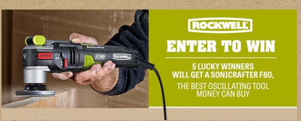 Rockwell Sonicrafter F80 Giveaway-Enter To Win Sonicrafter F80 and Universal Fit 27-Piece Oscillating Accessory Kit
