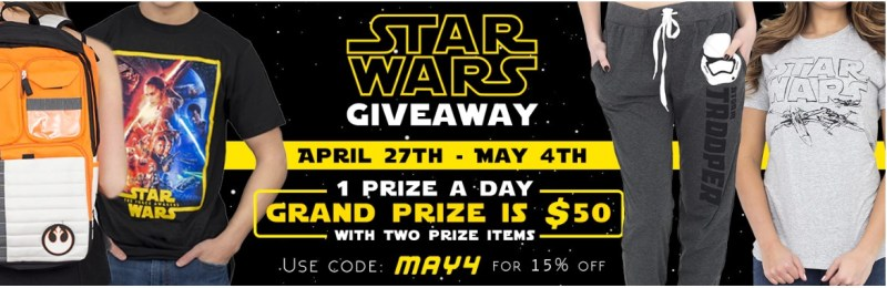 TV Store Star Wars Prize Pack Giveaway-Chance To Win $200 Prize Pack, T-Shirts, Accessories & Swag Daily
