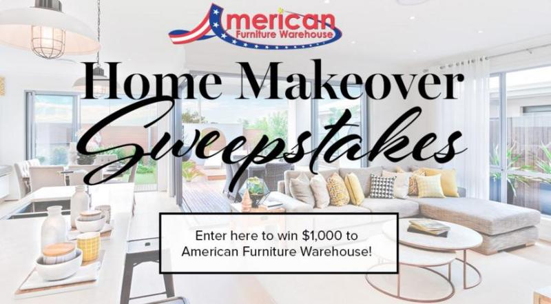 American Furniture Warehouse Spring Home Makeover Sweepstakes – Stand Chance to Win $1000 Gift Card