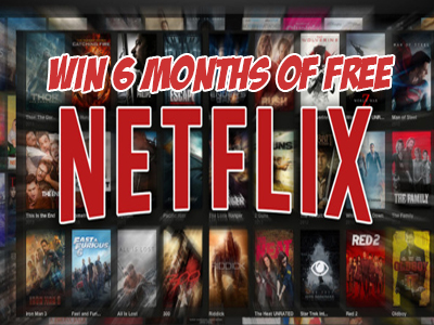 6 Month of Free Netflix Giveaway- Enter To Win $75 Netflix eGift Card