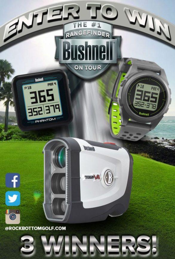 Rock Bottom Golf Bushnell Rangefinder Contest – Stand Chance To Win A Free Bushnell Rangefinder Or GPS Device
