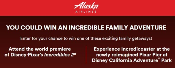 Alaska Airlines The Incredible Adventure Sweepstakes - Chance To Win A Trip for 4 people To Los Angeles