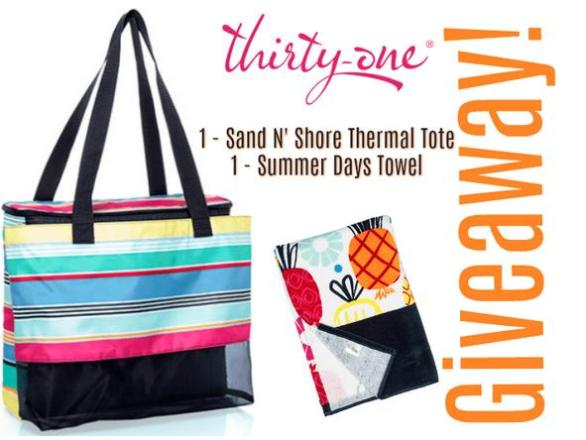 Thirty One Beach Prize Package Giveaway – Stand Chance to Win A Thirty-One Gifts Package