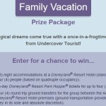 Undercover Tourist's California Dreamin Family Vacation Sweepstakes - Chance to Win Three Night Accommodations At A Disneyland Resort Hotel