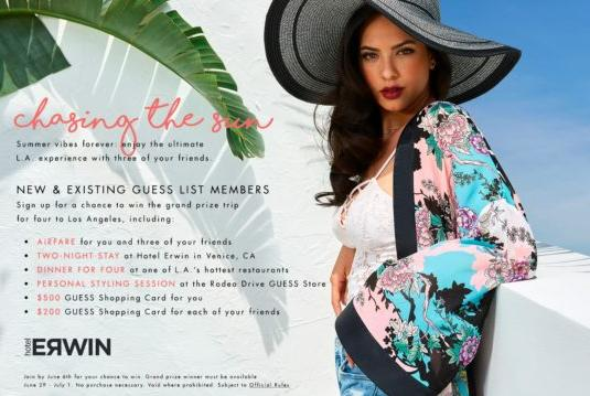 Chasing The Sun Sweepstakes – Win A Trip To Los Angeles, California