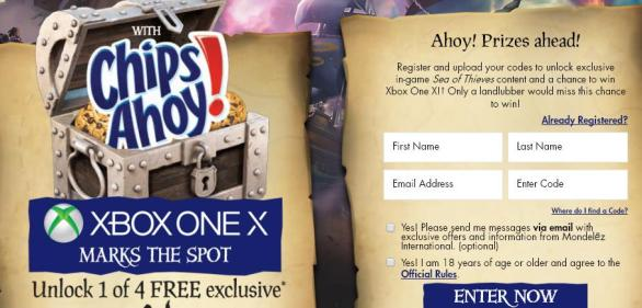 Chips Ahoy XBox Sweepstakes – Stand Chance to Win An Xbox One X, A X Box Controller & Sea of Thieves Game