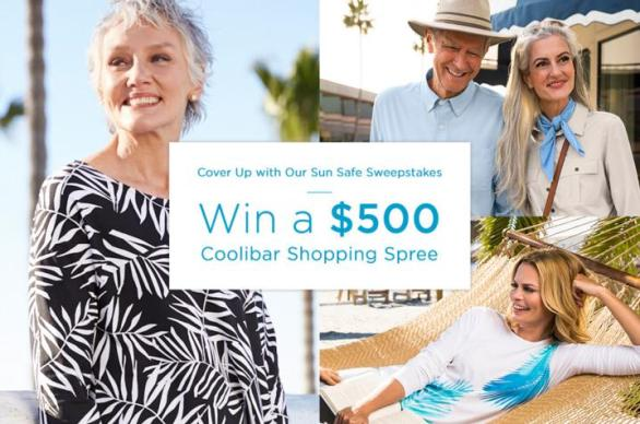 Coolibar Cover Up With Our Sun Safe Sweepstakes – Win Chance To Win $500 Shopping Spree For Coolibar-Branded UV Clothing, Hats And Accessories