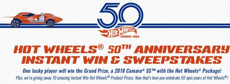 Hot Wheels 50th Anniversary Sweepstakes – Win Hot Wheels Master Set