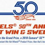 The Hot Wheels 50th Anniversary Instant Win Game And Sweepstakes – Stand Chance to Win Hot Wheels Master Set